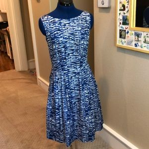 Kate Spade blue fit and flare dress
